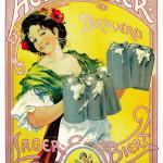 Actien-Bier um 1900, unbekannter Künstler, Foto Carlsberg Deutschland GmbH